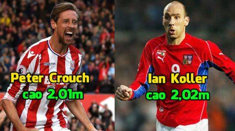 """Top 11 cầu thủ có chiều cao """"kinh khủng"""" nhất thế giới: Sốc nặng khi Sếu vườn Crouch chỉ được xếp bét bảng!"""