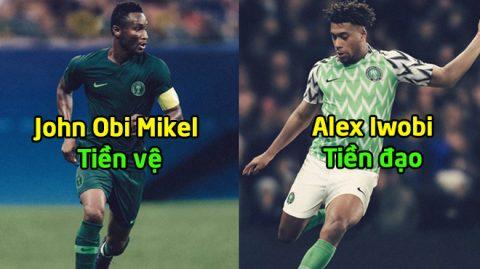 """""""Đại bàng Xanh"""" Nigeria CHÍNH THỨC công bố 23 cầu thủ tham dự World Cup 2018: Tuổi trẻ và khát khao!"""