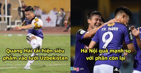"""Quang Hải tái hiện siêu phẩm """"cầu vồng trong tuyết"""", Hà Nội FC nhàn nhã vùi dập đối thủ tan nát với tỷ số khó tin"""