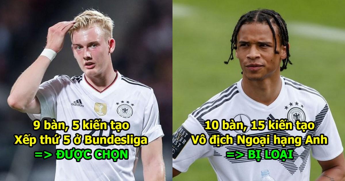 3 cái tên không xứng đáng có cùng Cỗ xe tăng Đức dự World Cup 2018: Chẳng hiểu sao loại Sane vì người số 3