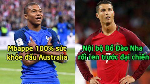 TIN NÓNG WORLD CUP 15/6: Nội bộ Bồ Đào Nha rối ren trước đại chiến; Mbappe 100% sức khỏe đấu Australia