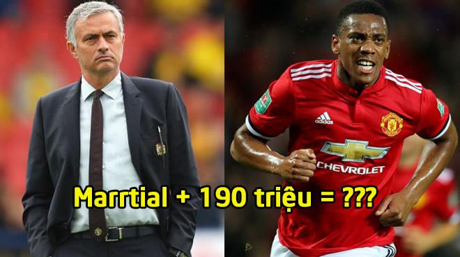 """ĐIÊN RỒ: Mourinho chơi bài """"siêu dị"""", 190 triệu + Martial giật thương vụ khủng nhất mùa Hè"""