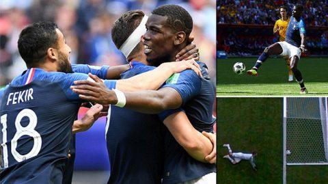 """Pogba vẽ tuyệt phẩm """"cầu vồng"""", Pháp nhọc nhằn giành 3 điểm trước đàn chuột túi Australia"""