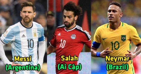 Điểm mặt 8 danh thủ số 10 đáng chú ý nhất World Cup 2018: Số 2 và số 3 đủ sức giành bóng vàng