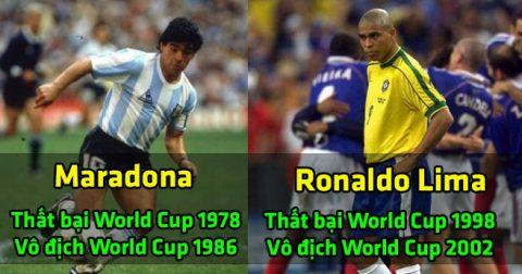 Top 10 siêu sao có sự trở lại mạnh mẽ nhất sau nỗi hổ thẹn World Cup: Rô béo sánh vai Maradona