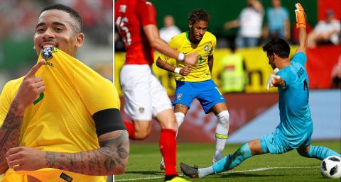 """Tam tấu C-J-N thay nhau ghi bàn, Brazil đại thắng """"kẻ làm nhục nước Đức"""", thách thức cả thế giới tại World Cup 2018"""