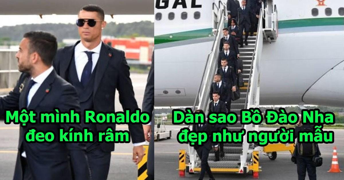 CHÙM ẢNH: Ronaldo thống lĩnh dàn sao Bồ đổ bộ xuống Nga, nhìn thần thái đủ để vô địch World Cup
