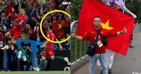 Khoảnh khắc Quốc kì Việt Nam tung bay khi Ronaldo ăn mừng siêu phẩm khiến cả dân tộc tự hào