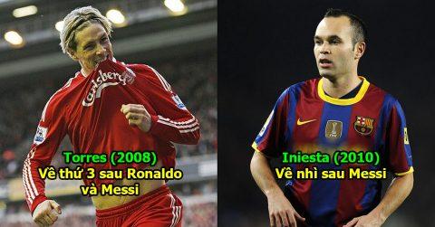 Nếu Ronaldo và Messi không được sinh ra thì đây mới là 10 ông chủ sở hữu Quả bóng Vàng thế giới