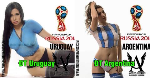 Rạo rực trước dàn mỹ nữ body painting cổ động World Cup 2018: Không thể nào cưỡng lại được!