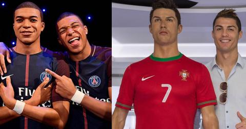 Chiêm ngưỡng 7 tượng sáp giống y như người thật của các ngôi sao bóng đá: Bất ngờ với Mbappe