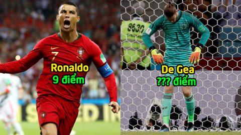 Chấm điểm Tây Ban Nha 3-3 Bồ Đào Nha: Đỉnh cao CR7, vực thẳm De Gea