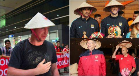 """Đáng yêu hết nấc với những hình ảnh """"nón lá"""" của những ngôi sao bóng đá quốc tế khi đến thăm Việt Nam"""