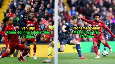 Chấm điểm Liverpool sau màn trình diễn kém ấn tượng trước Man City: Hàng công trồi sụt, thất vọng Salah