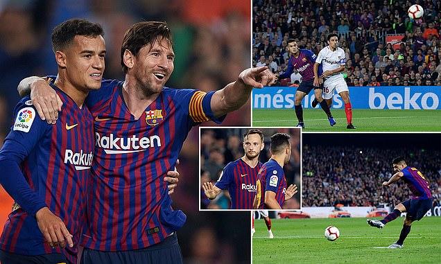 Dạy cho Sevilla một bài học, Barcelona CHÍNH THỨC trở lại ngôi đầu La Liga