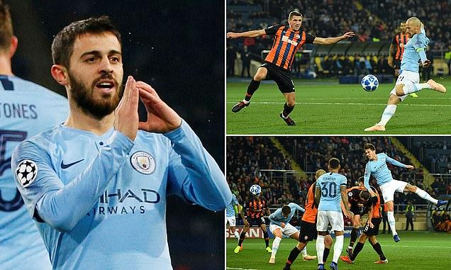 Song tấu Silva tưng bừng nhảy múa, Man City vùi dập Shakhtar ngay trên sân nhà của đối thủ
