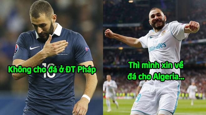 """BI HÀI: Hết cửa lên tuyển Pháp, Karim Benzema """"cầu cứu"""" thủ tục của FIFA để khoác áo Algeria"""