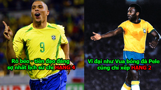 """10 thiên tài giỏi nhất lịch sử mà Brazil sản sinh ra: Vĩ đại như Pele cũng phải quỳ gối trước dị nhân """"chân cong"""" này"""