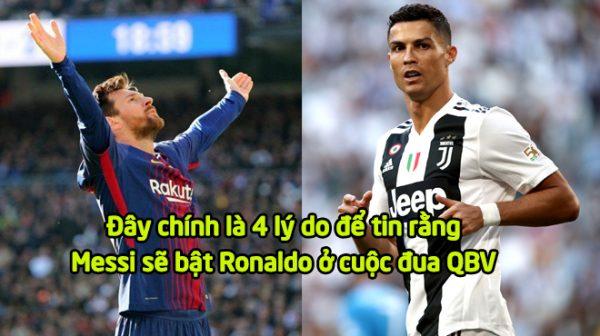Messi sẽ lật đổ Ronaldo ở cuộc đua QBV 2018, tại sao không? Hãy nhìn vào 4 lý do này!