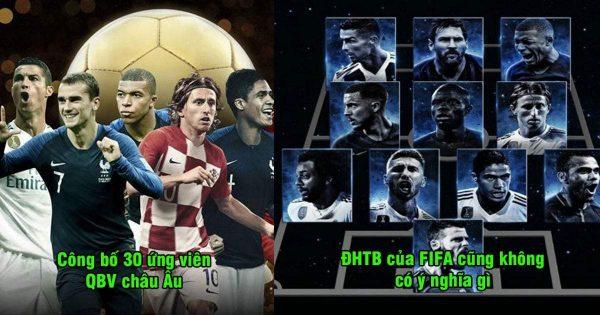 CHÍNH THỨC: Danh sách rút gọn Quả bóng vàng 2018 – Modric, Messi tiếp tục ám Ronaldo