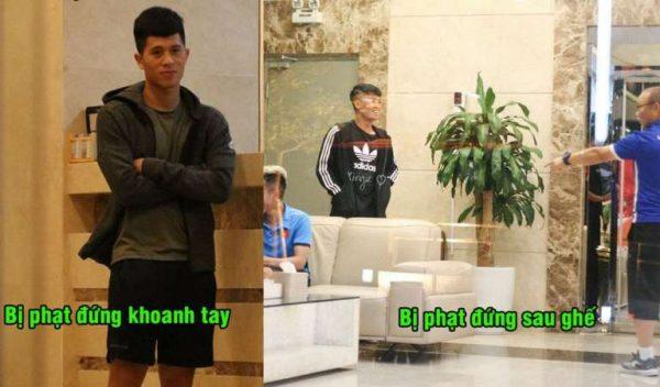 Diện quần áo đẹp hí hửng đi chơi, chưa kịp ra khỏi khách sạn Tiến Dũng, Đình Trọng đã bị thầy Park bắt phạt vì lý do siêu dị