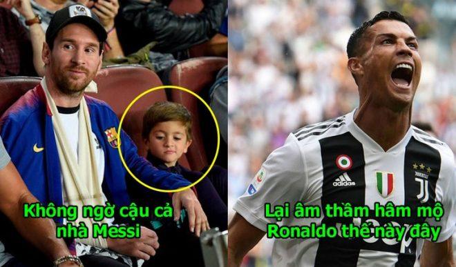 Cùng bố đi xem Barca, con trai Messi chỉ cặm cụi ngồi vẽ, nhìn tác phẩm chắc chắn 100% cậu bé này là fan Ronaldo