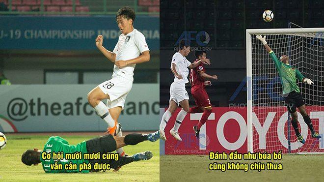 Phát cuồng với màn bay lượn không thua gì De Gea của thủ môn dự bị U19 Việt Nam, người kế tục Văn Lâm là đây chứ đâu