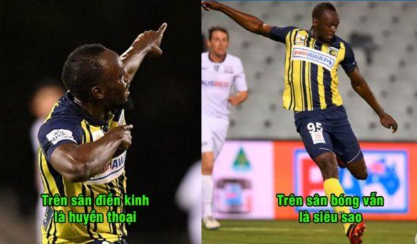 Từ điền kinh chuyển sang bóng đá, Usain Bolt vẫn chứng tỏ đẳng cấp siêu sao, lập cú đúp ngay trận chuyên nghiệp đầu tiên