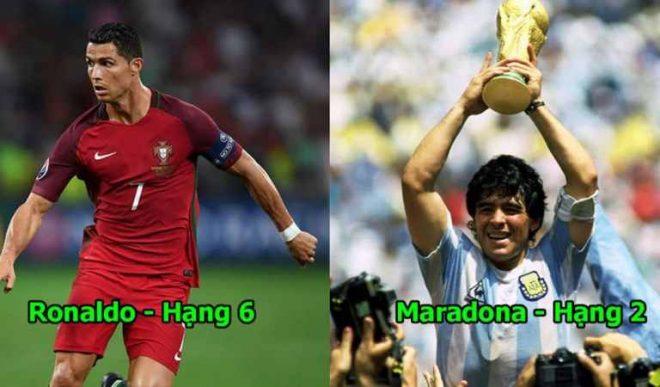 10 thánh gánh team vĩ đại nhất lịch sử bóng đá: Một mình cân cả Bồ Đào Nha, Ronaldo vẫn thua tâm phục huyền thoại này