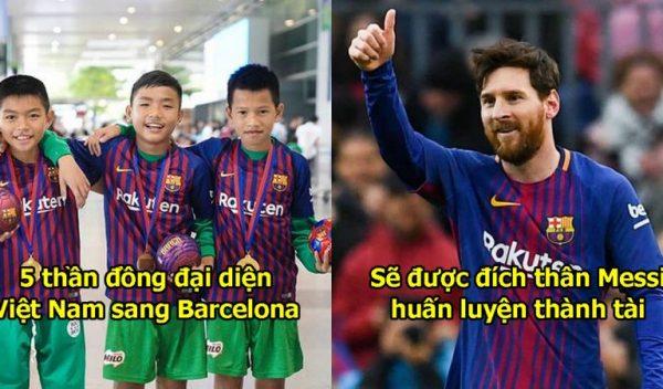 5 thần đồng Việt Nam đã lên đường gia nhập lò La Masia của Barca, ngày vươn tới đẳng cấp của Messi cận kề rồi!