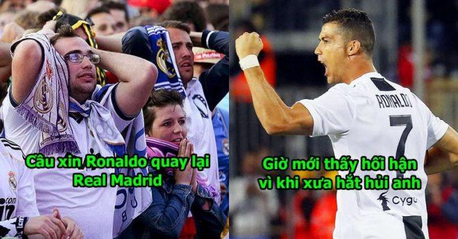 Nhìn Ronaldo một mình gánh Juventus đ ộc bá Serie A, fan Real Madrid đồng loạt cầu xin anh điều này