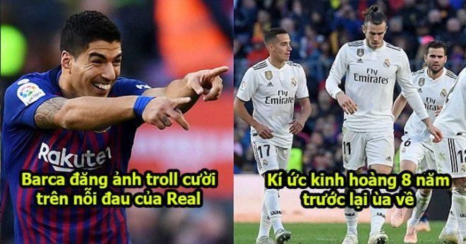 """Chưa hả dạ, Barca xát thêm muối vào """"nỗi đau 5-1"""" của Real bằng tấm ảnh """"troll"""" nổi tiếng khiến không ai nhịn nổi cười"""