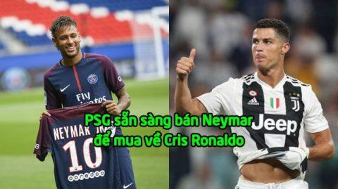 """Ngỡ ngàng """"siêu b.o.m tấn"""": Báo Pháp rộ tin PSG bán Neymar mua Ronaldo"""
