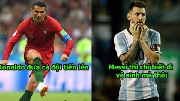 Messi không bao giờ xứng đáng làm đội trưởng. Trước trận đấu, cậu ta đi vệ sinh đến 20 lần và chỉ chơi game thôi