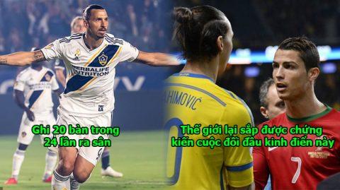 Ibra chuẩn bị quay lại châu Âu, thế giới lại sắp được chứng kiến vua Ronaldo tranh hùng với chúa tể Zlatan rồi