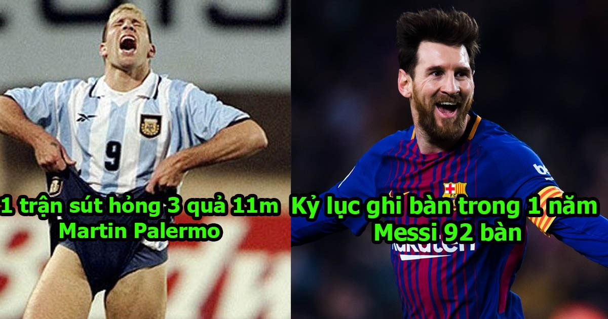 Top 12 kỷ lục đ.i.ê.n rồ trong bóng đá mà bạn không thể tin chúng tồn tại: Kỳ tích của Messi là bất khả xâm phạm