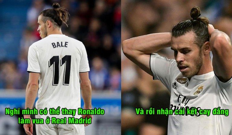 Tự coi mình là ông vua mới của Real, lại học theo tính cách của Ronaldo, số phận Gareth Bale giờ bi đát thế này đây