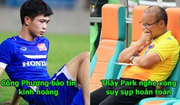 Hết Văn Thanh đến lượt Công Phượng báo tin cực buồn cho thầy Park, đội hình trong mơ chinh phục AFF Cup tan tành rồi