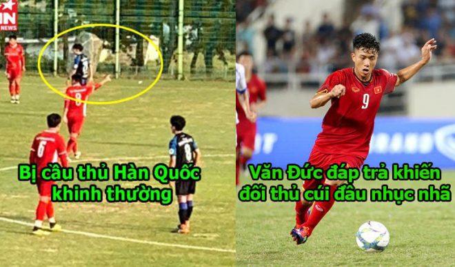 Bị cầu thủ Hàn Quốc khinh thường, Văn Đức khảng khái đáp lại khiến đối thủ im thít, đẳng cấp người Việt Nam là đây