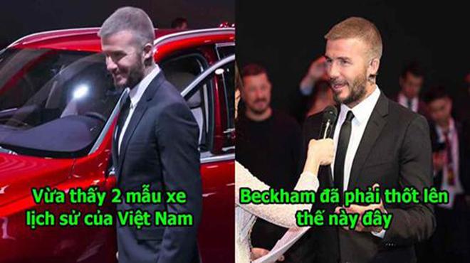 Vừa nhìn thấy 2 mẫu xe đầu tiên của Vinfast, Beckham phải thốt lên điều khiến 90 triệu dân Việt Nam tự hào