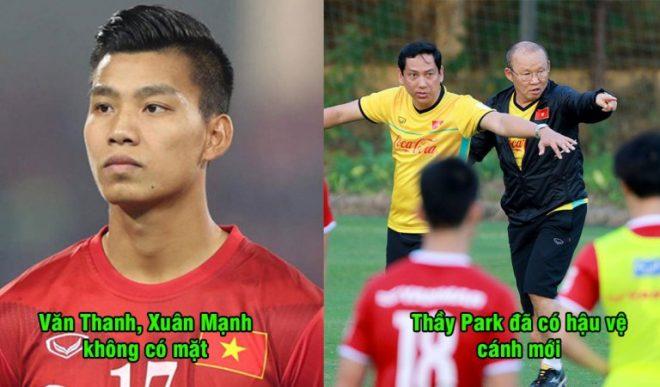 Không có Văn Thanh, Xuân Mạnh, thầy Park thử nghiệm táo bạo đưa tiền đạo về đá hậu vệ khiến ai cũng bất ngờ