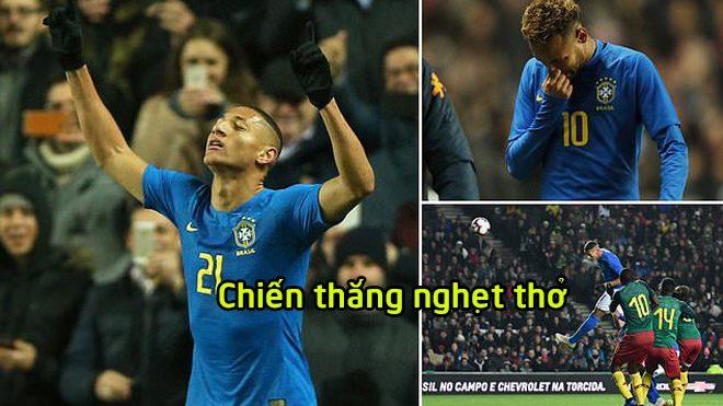 Brazil 1-0 Cameroon: Neymar sớm rời sân, Richarlison lại đóng vai anh hùng