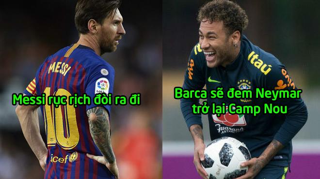 Rung chuyển SIÊU B.O.M TẤN: Messi rục rịch đòi đi, Barca đánh liều vì Neymar