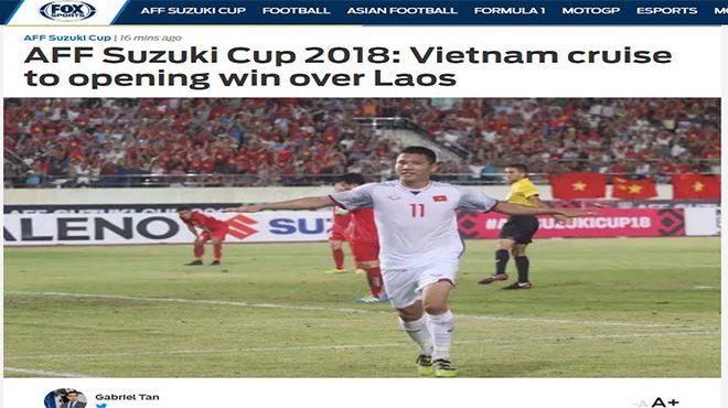 Việt Nam đại thắng Lào: Trang chủ AFF Cup hết lời khen ngợi Quang Hải, báo Thái đồng loạt chúc mừng