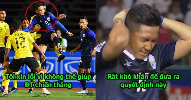 Sợ bị ĐTVN cho ăn hành, Messi Campuchia vội vàng đưa ra quyết định khiến CĐV nước nhà chao đảo