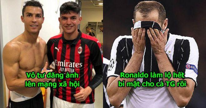 Đăng ảnh khoe cơ bắp ăn mừng chiến thắng trong phòng thay đồ, Ronaldo vô tình làm lộ bí mật động trời