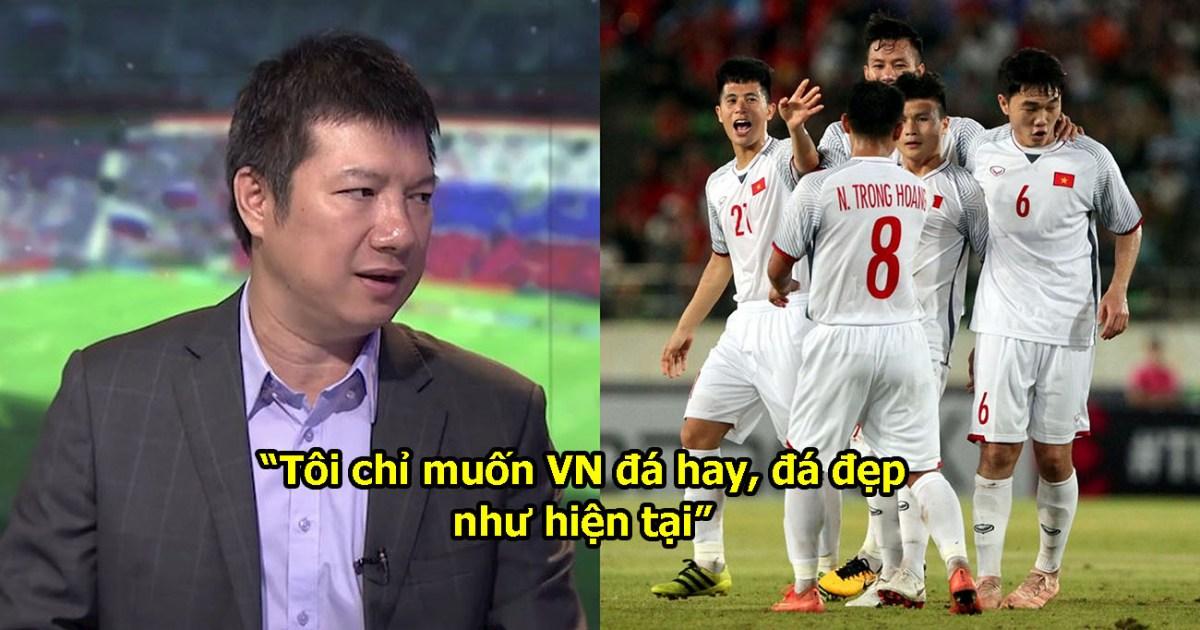 """BLV Quang Huy: """"Điều tôi cần là lối chơi, chứ không cần Việt Nam vô địch AFF Cup 2018"""""""