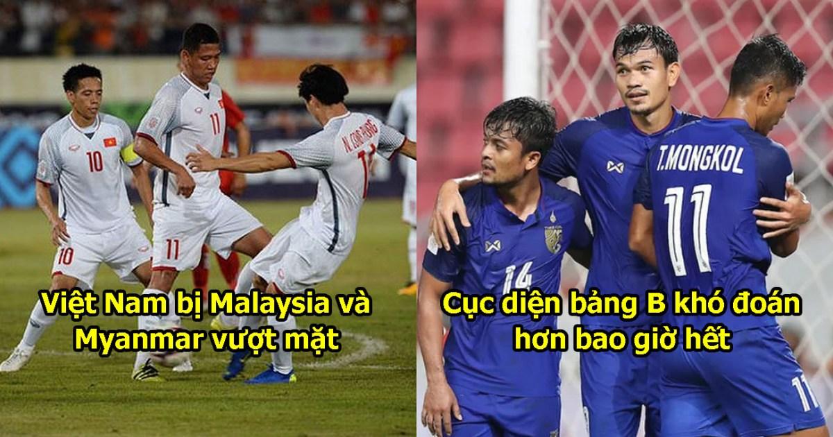 Cập nhật BXH AFF Cup: Thái Lan không đá vẫn đứng đầu, Việt Nam tụt hạng
