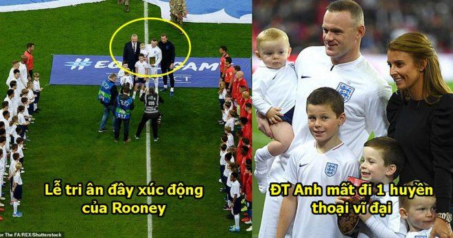CHÙM ẢNH: ĐT Anh tri ân huyền thoại Rooney, nghe anh đọc tâm thư chia tay mà không kìm được nước mắt