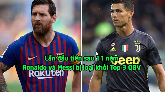 KHÔNG THỂ TIN NỔI: Ronaldo chính thức bị loại khỏi Top 3 QBV, và Messi cũng không có cửa